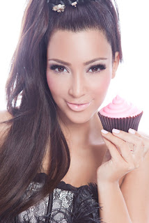 Kim Kardashian in Famous Cupcakes Advertising Campaign Model Photoshoot