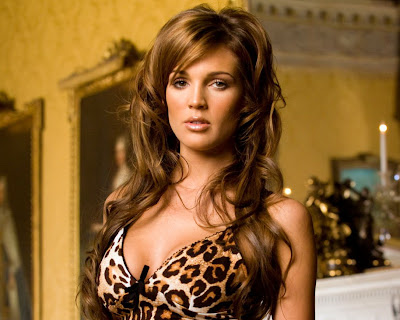 Danielle Lloyd in Sexy Leopard Tank Top Fashion Model Photo Shoot Session