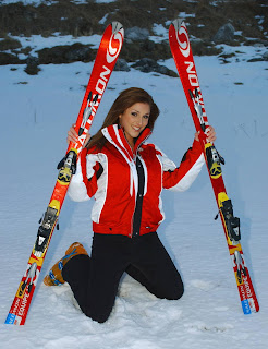 Lucy Pinder in Beautiful Female Skier Model Photoshoot Session