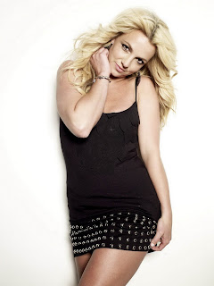 Britney Spears in Sexy Black Tank Mini Dress Fashion Model Photoshoot Session