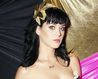 Katy Perry in Pretty Apple Green Strapless Romper Fashion Model Photo Shoot Session