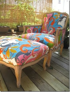 Our own home reupholstering a vintage chair