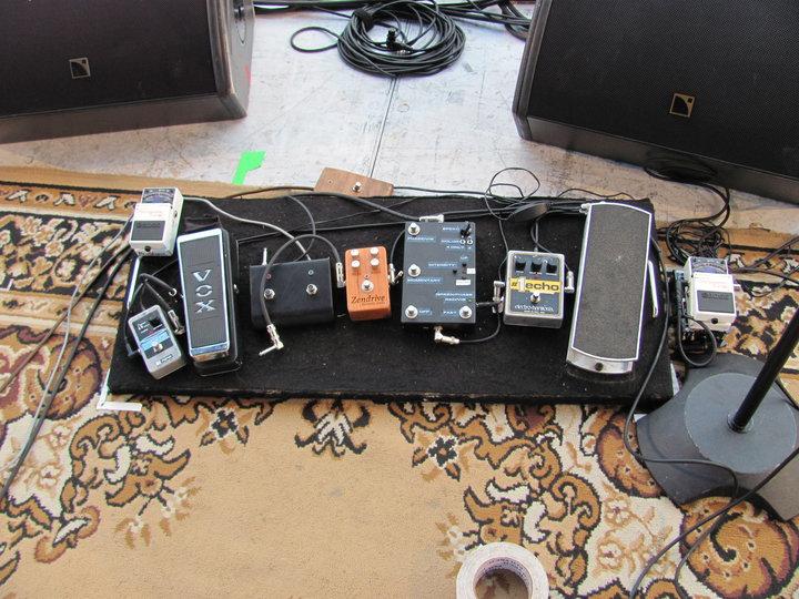 Ben Harper's pedalboard