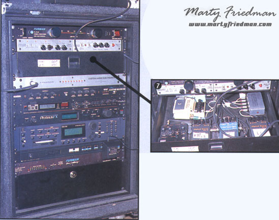 Marty Friedman Pedalboard