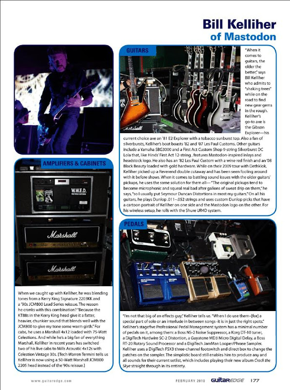 Bill Kelliher Guitar Rig