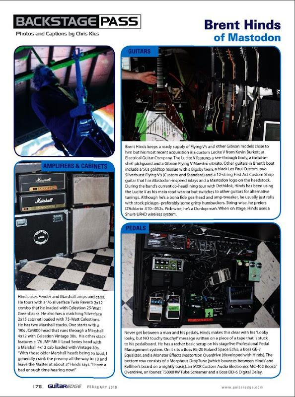 Brent Hinds Guitar Rig