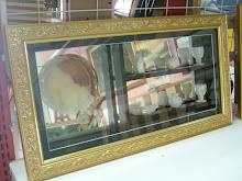 kotak kaca + set cawan marble