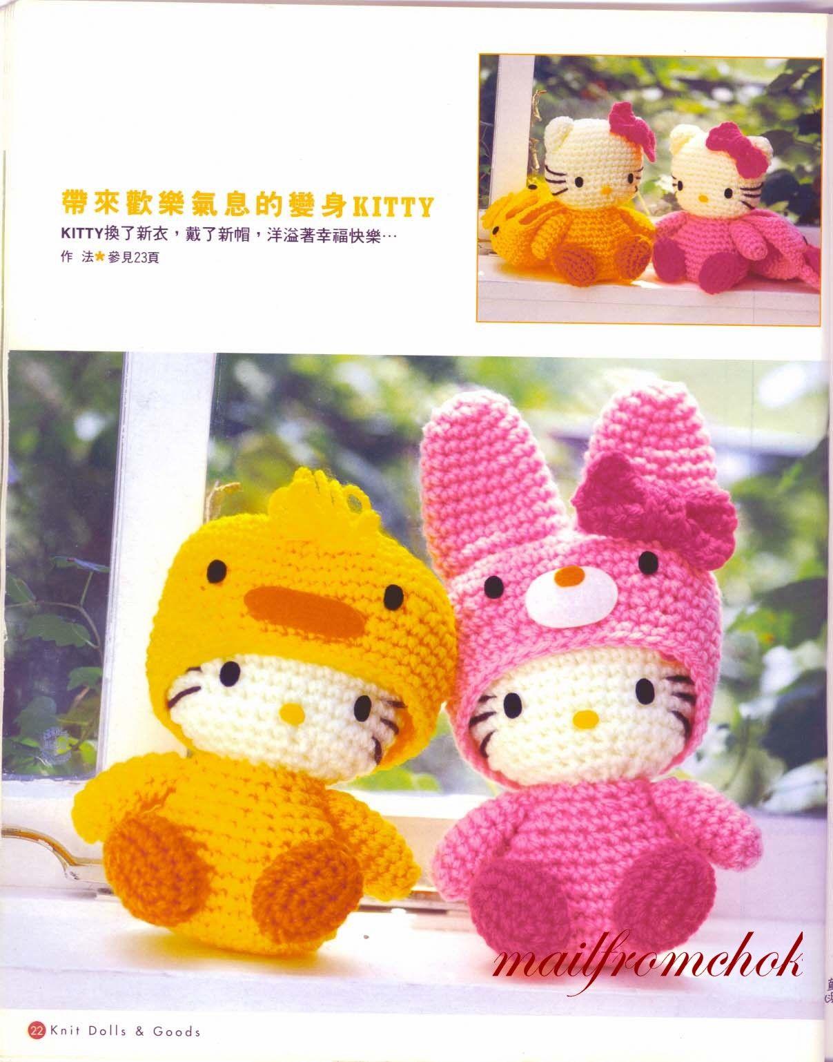 Amigurumi Kitty Espanol : Hello Kitty amigurumi patron espanol - Imagui
