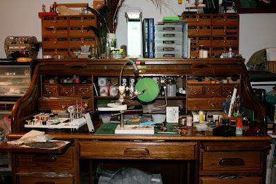 The Desk... Its An Old Roll Top And It Has Served Me Well For Many Years. I  Hope To Be Moving The Operation To A Custom Built Fly Tying Desk That Will  ...