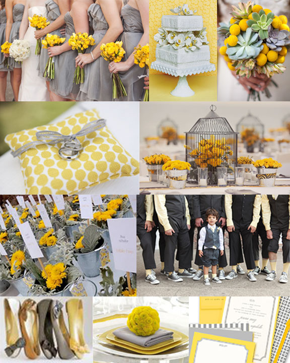 Sara 39s gorgeous real wedding story featuring yellow and gray