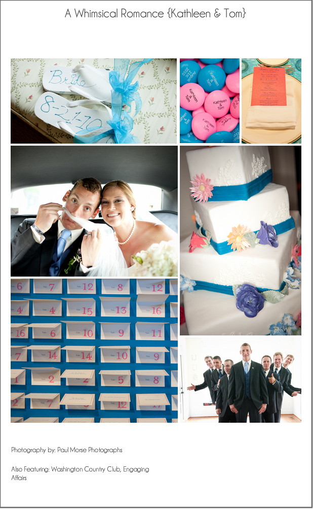 Pink and Blue Wedding Inpiration I love weddings that have fun with color