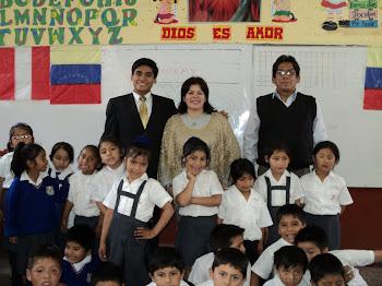 Saludos a los niños de  I.E. José Gabriel Condorcanqui. Lima, Perú