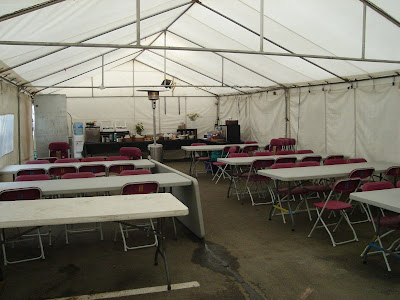 This is the new look of our holding tent and I like it! & Adventures of EdRocker: April 2009