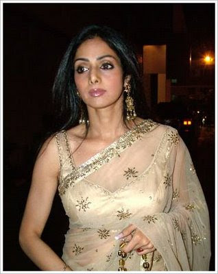 hottest pictures of Sridevi in saree pics