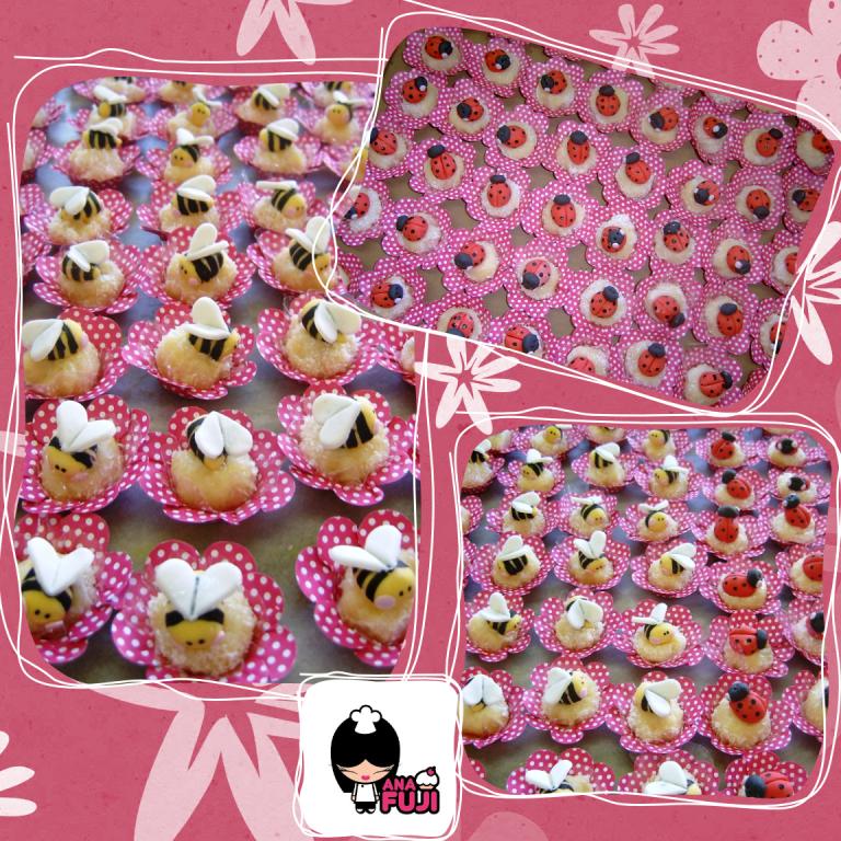 ideias originais jardim : ideias originais jardim:cupcakes de abelhinhas e joaninhas – ideias originais do livro
