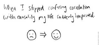 When I stopped confusing correlation with causality my life suddenly improved.