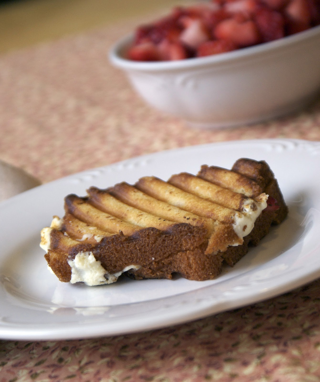 Ricotta Strawberry Breakfast Panini ~ Heat Oven to 350