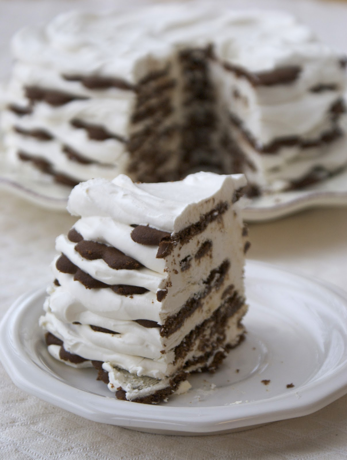 Wafer Icebox Cake ~ Heat Oven to 350