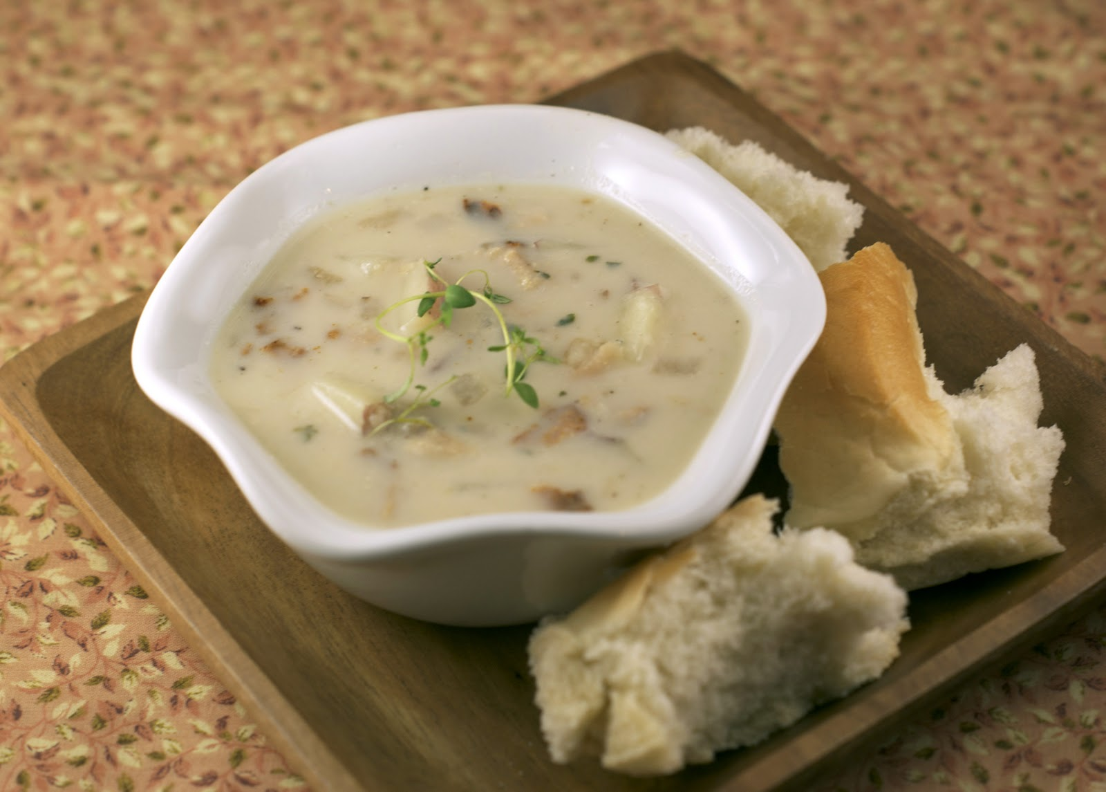 New England Clam Chowder ~ Heat Oven to 350