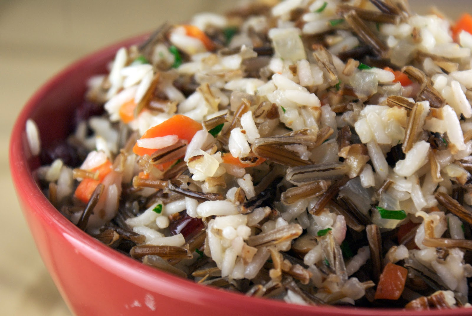 wild rice pilaf with pecans and cranberries