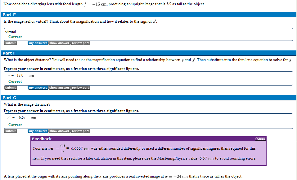 Mastering physics online homework solutions