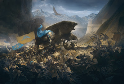 justin gerard illustration the hobbit the battle of five armies