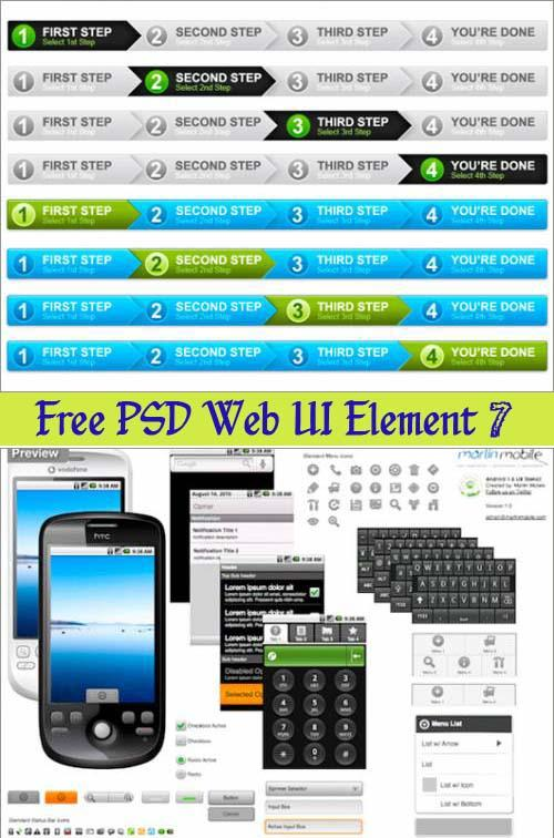 125 Free Web UI Element PSD Packs ~ best ui psd