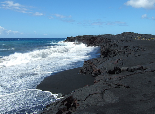 Nerds republic 5 reasons why black sand beaches rock for Black sand beach caribbean