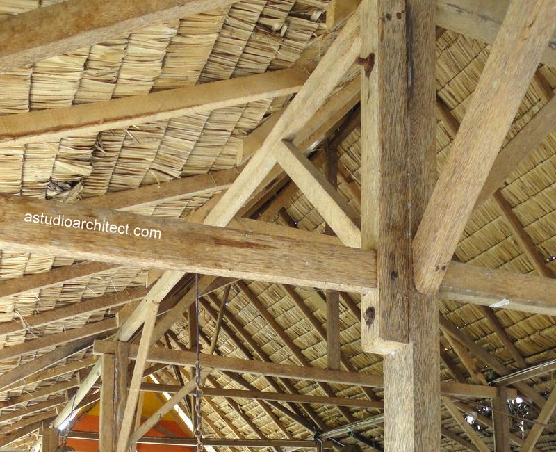 struktur rumah kayu