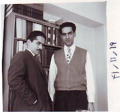 یادی از سال ها پیش -زنده یاد اخوان (سمت چپ تصویر)کنار استاد قهرمان