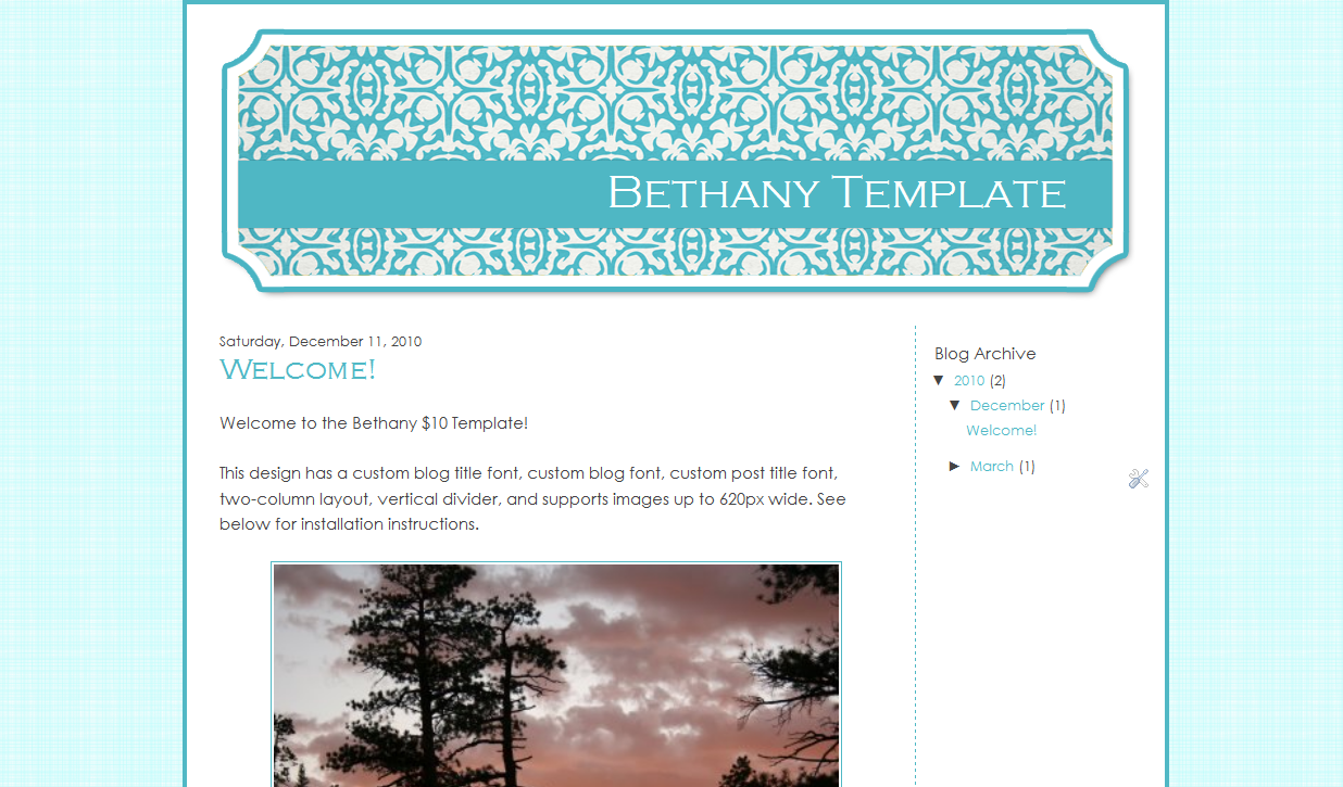 Bethany Blog Template