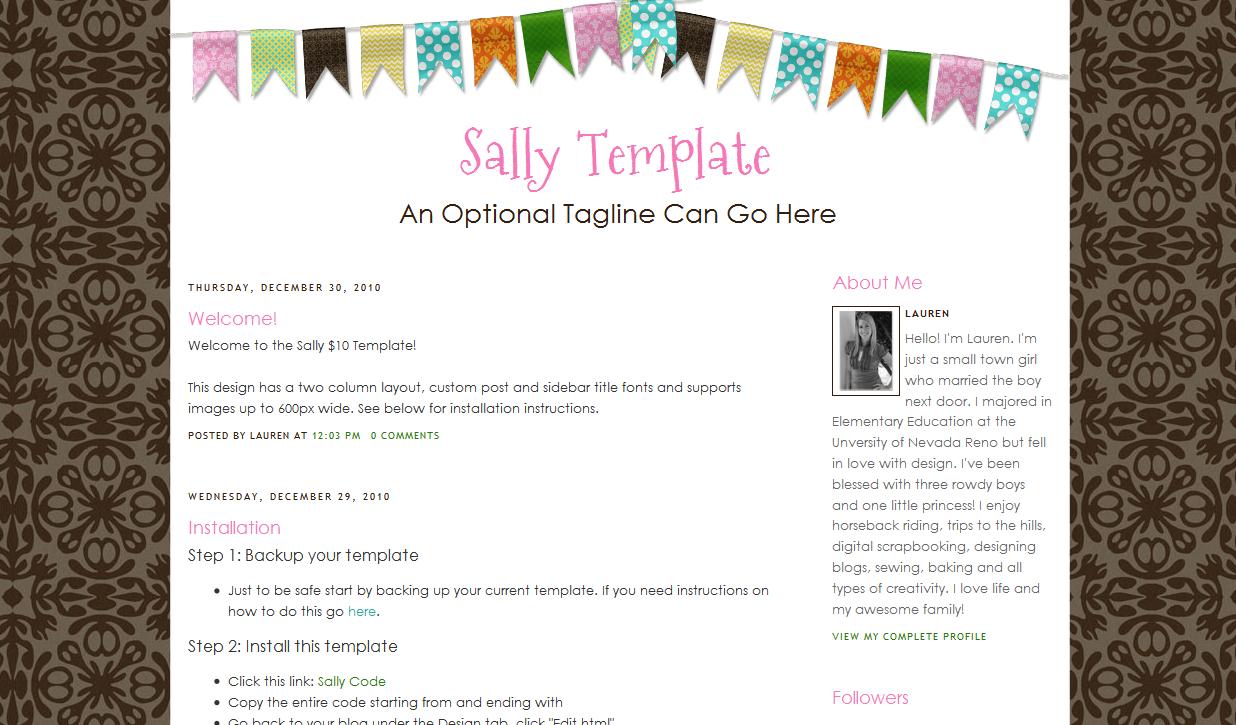 Sally Blog Template