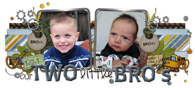 Our 2 Little Bro's Blog Design