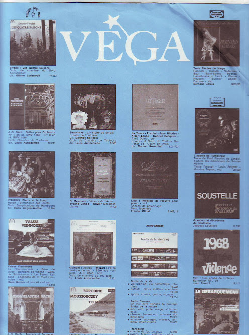 vega  catalogue