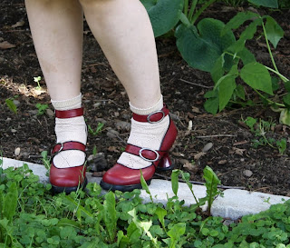 Fluevog shoes, Mini Dollface, mary janes with socks