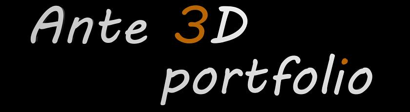 Ante 3d portfolio
