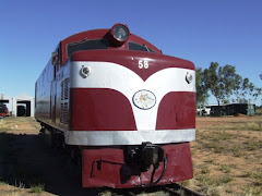 the old diesel Ghan