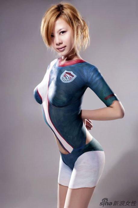 World photo gallary asian full body painted girls for Body paint girl photo