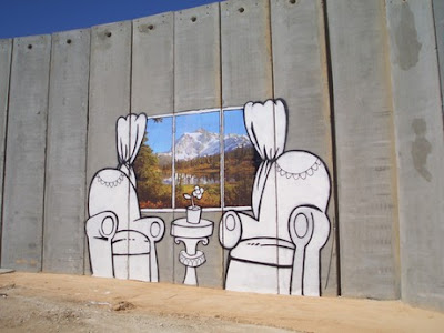 graffiti salon y ventana