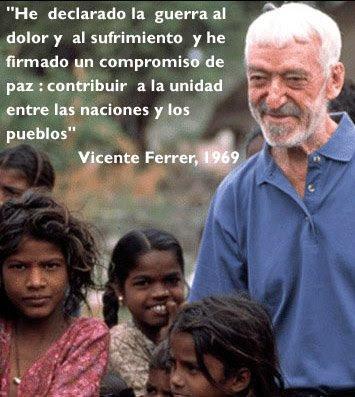 Vicente Ferrer en la India
