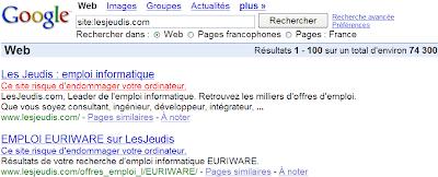 site banni dans google