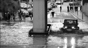 Tunel de Chinales inundado