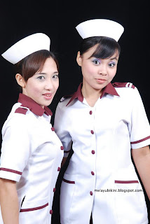 Sexy Malay Nurse wears Swimwear!