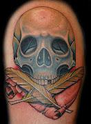 Tatuaje de Cráneo . DISEÑOS DE TATUAJES skull quills