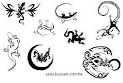 Tatuajes de Lagartos negros . DISEÑOS DE TATUAJES tattoo salamandras lagartos