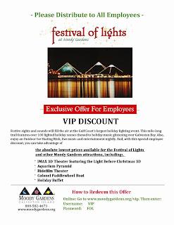 Moody Gardens Festival Of Lights Beginning