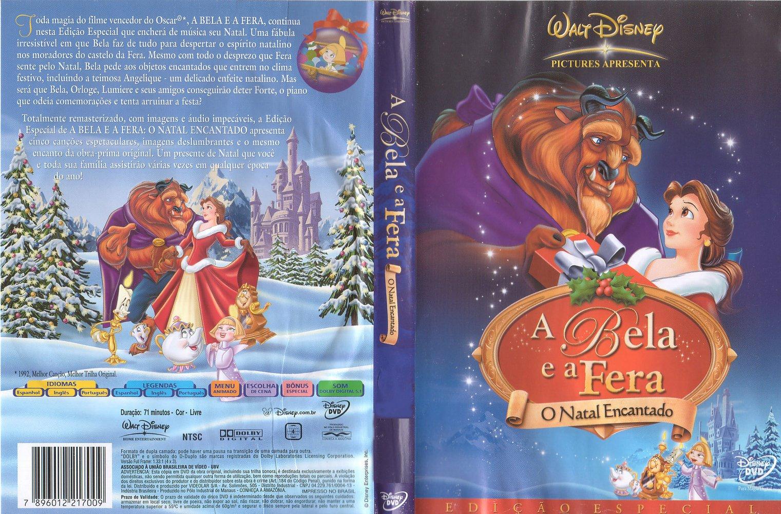 Capas Filmes Animação: A Bela e a Fera - O Natal Encantado