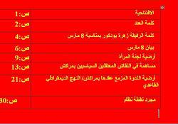فهرست العدد الثالث من نشرة ماي الأحمر نشرة الإتحاد الوطني لطلبة المغرب موقع مراكش