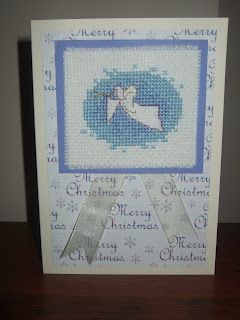 And the 2nd is a sweet Angel card that I stitched this week.