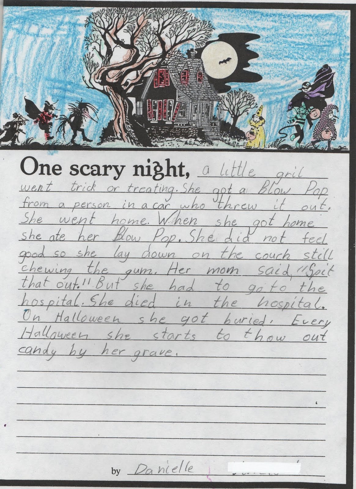 elementary school enrichment activities booootiful stories start off some spooky writing begin by brainstorming ideas of what could happen one scary night list the ideas on the board